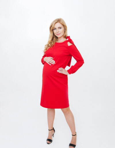 Isabel - lipsuga punane kleit