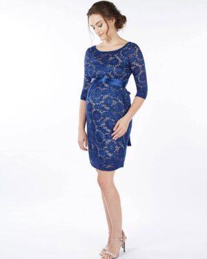 Contessa - sinine pitsist kleit rasedale ja imetavale emale (suurus M)